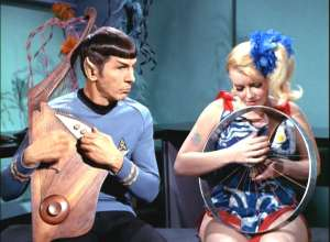 Spock, Playing the Harp
