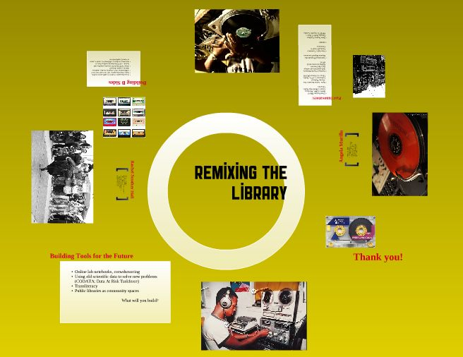 Remixing The Library presentation screenshot