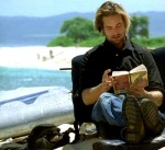 Sawyer reading in Lost