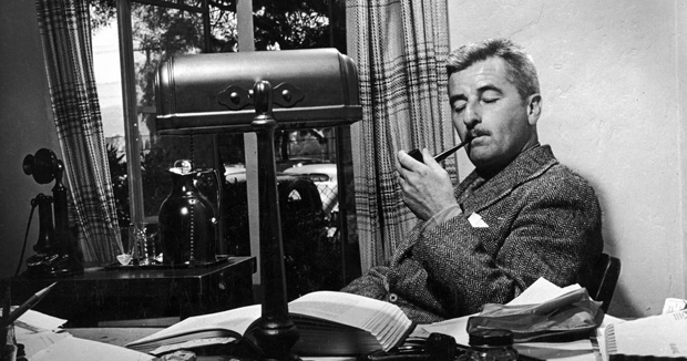 William Faulkner with Pipe